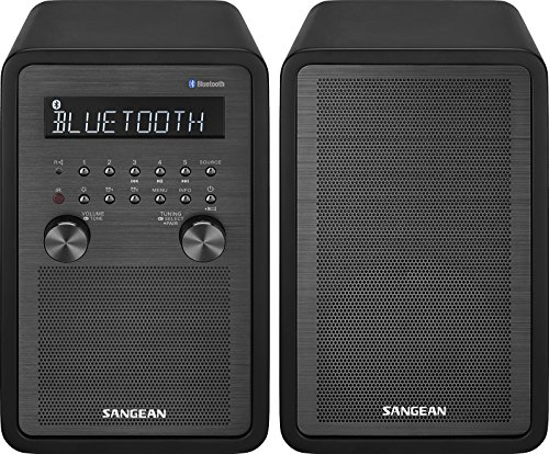 Sangean WR-50P FM-RBDS/AM/Bluetooth Wood Cabinet Table Top Stereo Digital Receiver System (Certified Refurbished)