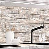 StickerProfis Küchenrückwand selbstklebend - PLANKEN - 1.5mm, Versteift, alle Untergründe, Hart PET Material, Premium 60 x 400cm