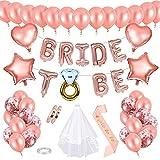 Wodasi Hen Party Decorations Ballons, Bride To Be Décoration Foil Ballon...