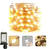 Maniana Super Bright 200 led String Lights Outdoor Waterproof Twinkle Lights 8 Mode 76ft Fairy Lights Outdoor Waterproof Plug in Warm White Christmas Lights Indoor with Remove Oversize lamp Beads…