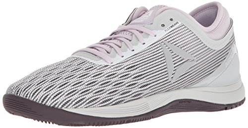 Reebok Women's Crossfit Nano 8.0 Flexweave Workout Joggers, white/stark grey/quartz/smoky volcano, 11 M US