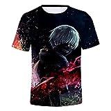 Tokyo Ghoul T-Shirt Unisex Estampado 3D Top Sudaderas de Sport Manga Corta Blusa Camisetas Casual Impresión Tops