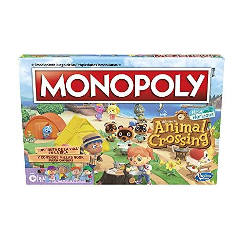 Juego de Mesa Monopoly: Animal Crossing New Horizons - A Partir de 8 años - Divertido Juego para 2 a 4 Jugadores
