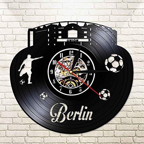 UIOLK Real vinyl record German football 3D decoration LED wall lamp night light table made by fans