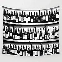ワインボトルタペストリー壁掛け壁の装飾寝室家の装飾壁タペストリーヨガマット150x200cm
