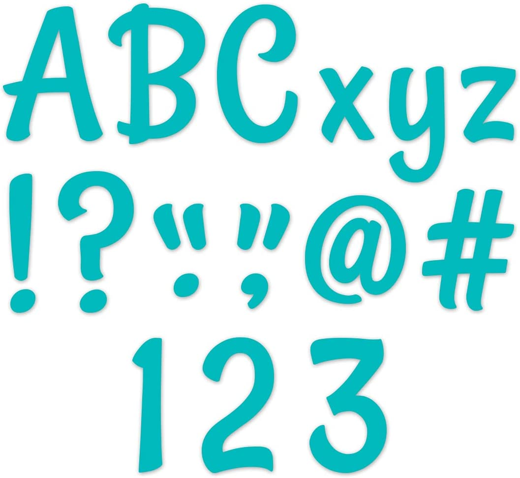Creative Max 89% OFF Teaching Press Stylish Turquoise Letters 4 i Punch-Out Cheap mail order shopping