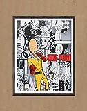 Saitama One Punch Man Hero Digital Picture Manga Anime Wall Art Print Decor,8 x 10 Inches,No Frame
