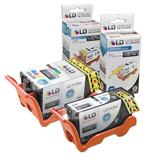 LD Compatible Ink Cartridge Replacement for Dell V515w Series 23 High Yield (1 Black, 1 Color, 2-Pack)