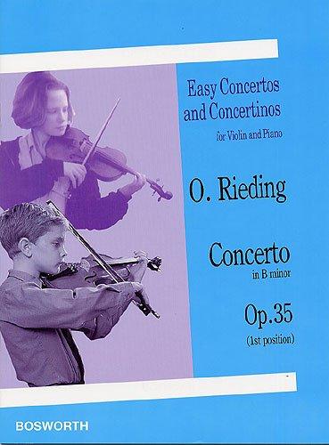 OSKAR RIEDING: CONCERTINO IN H OP. 35 - Einfaches Konzert für Violine (1.Lage) und Klavier in h-moll - mit Bleistift - Noten/sheet music