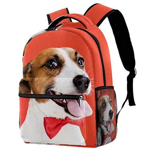 Daypack Perro riendo Adolescentes Mochila Escolar De Ocio,Deportes Al Aire Libre De Viaje 29.4x20x40cm