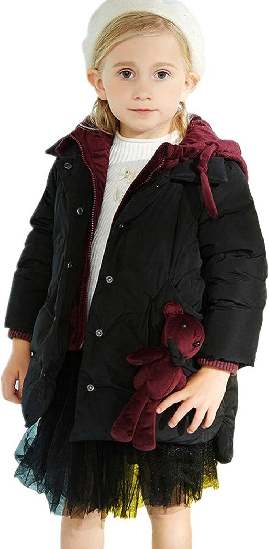 RSTJ-Sjc Kinder Baby warme winddichte Mantel Daunenjacke, abnehmbare Puppe Dekoration Outwear, Entendaunen füllen Wintermantel