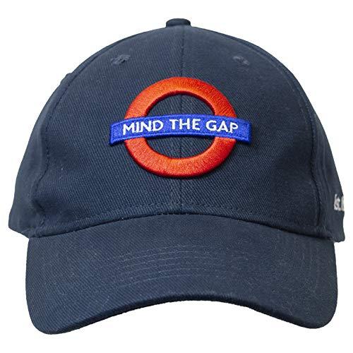 TFL London Undeground Mind The Gap Gorra de béisbol para Londres ligero y transpirable, logotipo de Londres, color azul marino