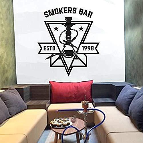 Etiqueta engomada de la pared del vinilo decoración de la pared etiqueta engomada DIY club de la cachimba para la tienda de la cachimba barra de fumador estrella Etd 1998 modelo 42X47cm