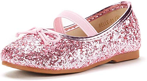 DREAM PAIRS Toddler Belle_01 Pink Girl's Mary Jane Ballerina Flat Shoes Size 5 M US Toddler
