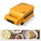 LTLCLZ Sandwich Maker Toaster Maker Waffel Brot-Maschine Non-Stick Haushalt Multifunktions...