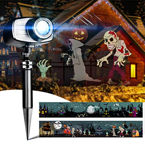 EAMBRITE Animated Halloween Projector Lights with Music Waterproof Landscape Projector Lights Decoration for Hallowmas Outdoor Indoor Use