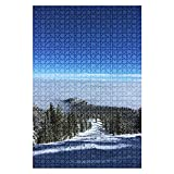 1000 Piece Puzzle Lake Tahoe Winter ski Resort Scene Mountain Indoor ActivitiesDifficult Jigsaw Puzzle Set for Adults Children Educational Toys Gift