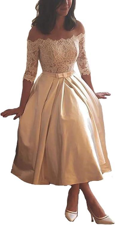 Tea Length Champagne Colored Dresses