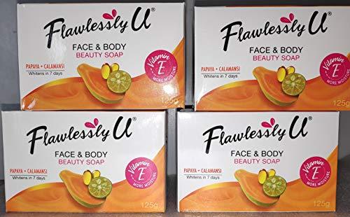 Flawlessly U 4X 2in1 Whitening Bath Soap w/Papaya+Calamansi Extract 125g Each bar