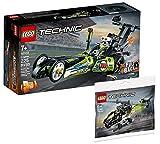 Collectix LEGO - Lego Technic Dragster auto da corsa 42103 + elicottero Lego Technic 30465 (sacchetto in plastica)