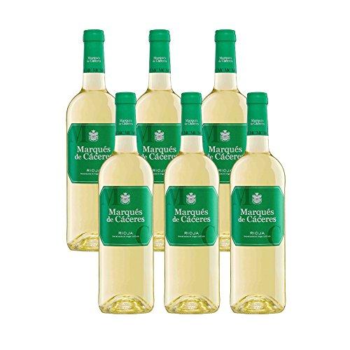 Marques de Caceres Blanco 2017-6 botellas- Vino Blanco Rioja-0,75L