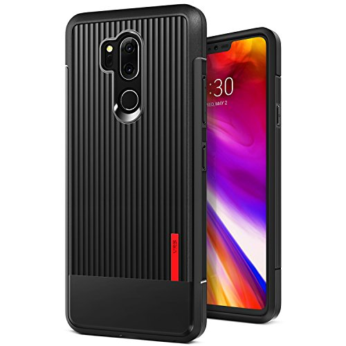 LG G7 Case, LG G7 ThinQ Case :: VRS :: Slim Full Body Protective Armor :: Ultra Thin Fit :: Waved Texture Reinforced Grip :: for LG G7 ThinQ (Single Fit - Matte Black)