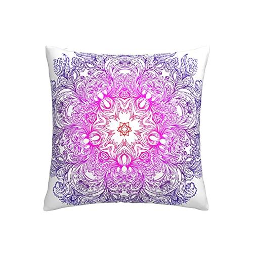 Funda de almohada de encaje redondo indio estilo mandala funda de almohada cómoda funda de almohada cuadrada Mordern Decor Fundas de almohada para sofá dormitorio