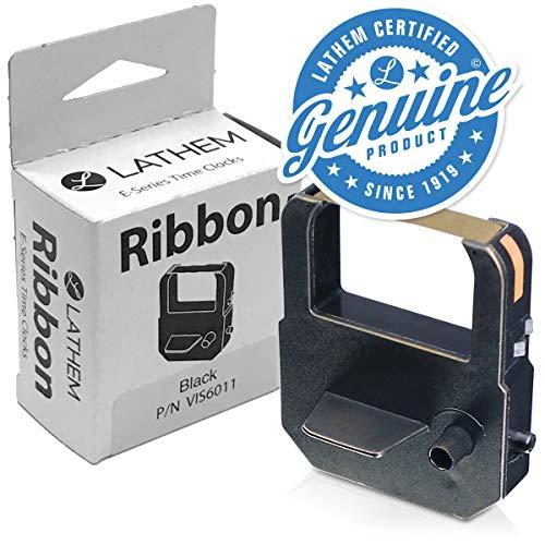 Lathem E Series Ribbon Cartridge, Use with 900E, 1000E, 1500E, 5000EP, 7000E, Black (VIS6011)