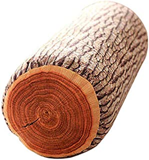 JustNile Ultra Soft 3D Wood Log Decorative Throw Pillow | Sleeping Cushion for Bed Sofa Office Chair Car Seat Armrest| Home& Travel | Natural Creative Design| Made for Superior Comfort | Rustic Cabin Décor