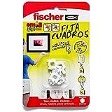 fischer - Fija cuadros para colgar cuadros sin agujeros, Blanco 8 uds