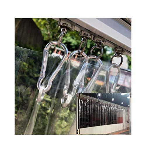 LJIANW PVC Cortina de Tira Puerta, Resistente al Clima Claro El plastico Plegable Puerta corrediza A Prueba de Viento Mantener Caliente por Puertas del congelador Puertas de almacén