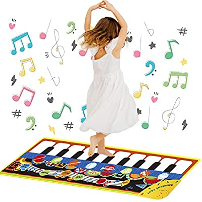 SUXIA Piano Musical Mat for Baby Boys Girls, Toys for 1-3 Year Old Kids