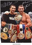 Wladimir & Vitali Klitschko Signiert Autogramme 21cm x