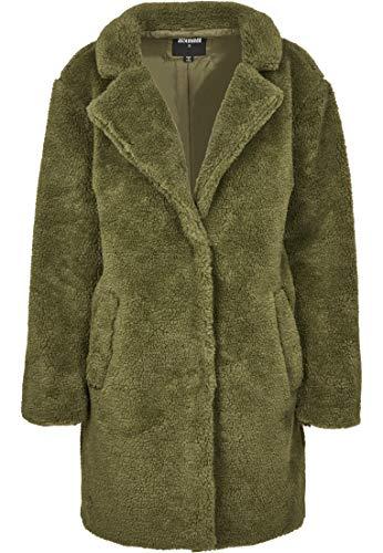 Urban Classics Ladies Oversized Sherpa Coat Abrigo, Verde (Olive 00176), 3XL para Mujer