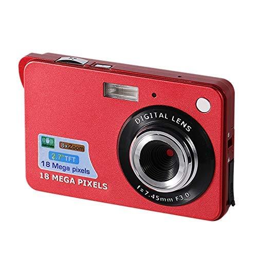 NIUZIMU Cámara Digital HD de 2.7 Pulgadas portátil, apunte y dispare Videocámara para niños Recargable para niños Niños Niñas Regalo Camping / Exterior (Rojo)