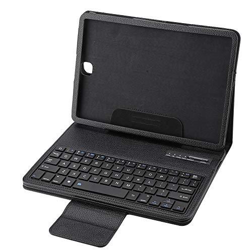 Bluetooth-toetsenbordbehuizing, draadloze Bluetooth-toetsenbordhoes, toetsenbordhoes met ABS-chocoladekern/PU-leer voor de 9,7-inch tablet Samsung Galaxy Tab S 2 T810 / 815 (zwart)