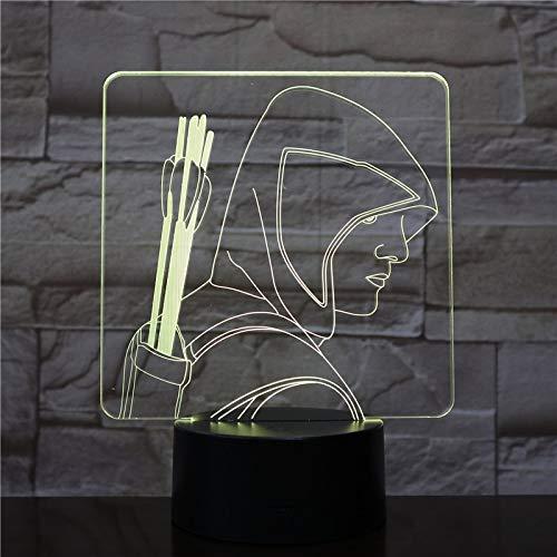 shiyueNB Flèche Verte Figure Lampe de Bureau Lampe de Chevet Touch Sensor 7 Couleur Changeante Enfant Enfant Lumière décorative DC Comics américains LED Veilleuse