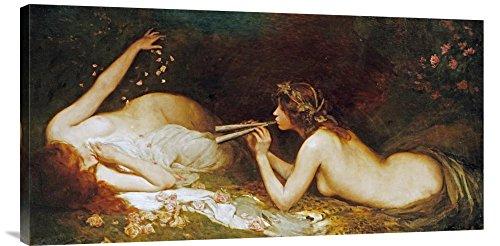 Global Gallery Budget GCS-267071-36-142 Leonard Raven-Hill The Serenade Gallery Wrap Giclee em tela