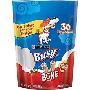 Purina Busy Bone Tiny Dog Treats (2) Pack of Tiny Chewbones (60) Treats Total