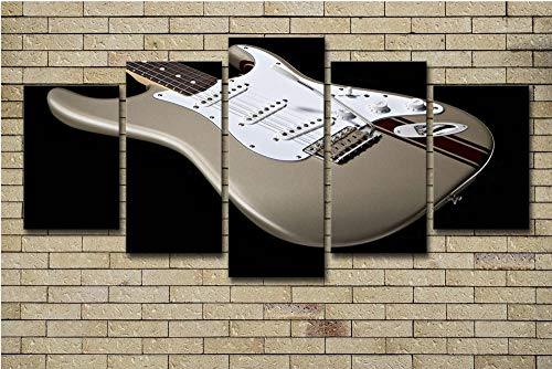 JKZHILOVE Cuadro en Lienzo Guitarra Impresión de 5 Piezas Material Impresión Artística Imagen Gráfica Decoracion de Pared para Tu Salón o Dormitorio Sin Marco 150 x 80 cm