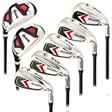 Ram Golf Accubar Mens Right Hand Clubs Iron Set 6-7-8-9-PW with Hybrids 24° and 27° (All Graphite - Standard Length, Regular)