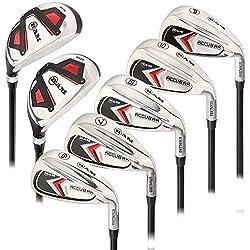 cheap Men's Iron Set Lamb Golf Accubar 6-7-8-9-PW 24 ° and 27 ° Hybrid (All Graphite…