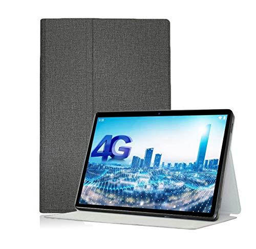 YGoal Funda para YESTEL T5/Blackview Tab8 - Ligero Multiángulo PU Cuero +PC Back Case Business Folio Carcasa para YESTEL T5 10 Pulgada Tablet, Gris