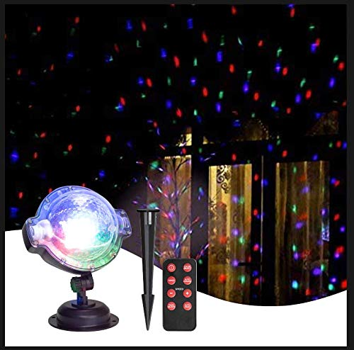 EAMBRITE Multi LED Activated Party Lights with Remote and Base for...