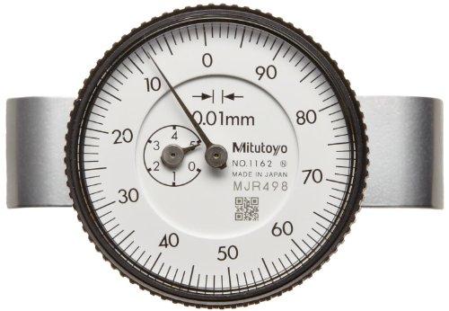 Mitutoyo 7222 Dial Depth Gauge, Indicator Type, 0-10mm Range, 0.01mm Graduation, +/-0.015mm Accuracy, 10mm Stroke, 16mm Dia. Base, With Needle Probe