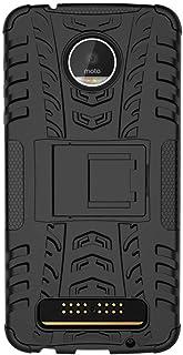 موتورولا موتو Z بلاي - غطاء حماية خلفي صلب مقاوم للصدمات مصنوع من البولي يوريثان اللدن بالحرارة هجين