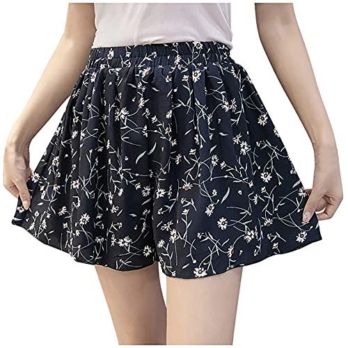 N\P Pantalones cortos Mujer Señora Casual Pantalones Cortos Faldas Verano De Las Mujeres De Alta