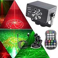 Mehrere Farbkombinationen: RGB-LED-Lampenperlen mit 3 Farben erzeugen mehrere Kombinationen (R/G/B/R & B/R & G/G & B/R & G&B & G & B und Lichtfarbkombinationen (R/G/R & G). Solche Bühnenlichteffekt schaffen eine fantastischere Atmosphäre. 【Multifunkt...