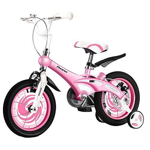 YSA Kids Bike Boys Fahrradtrainingsräder, 14.12.16 Zoll Jungen- und Mädchenrad Geeignet für Kinderwagen für Kinder im Alter von 2-8 Jahren Verstellbares Mountainbike, Blau, Pink, Gelb