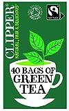 Clipper Fairtrade Organic Green Tea 40 Unbleached, Plastic-Free Tea Bags